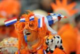 一名荷兰队球迷在比赛前