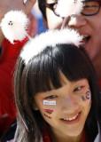 韩国球迷可爱装扮