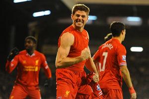 英超-杰拉德91分钟绝杀斯图里奇传射利物浦3-2胜