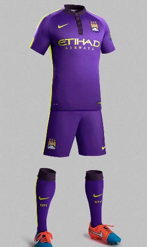 短讯-曼城正式公布第二客场球衣 全紫色 首秀或