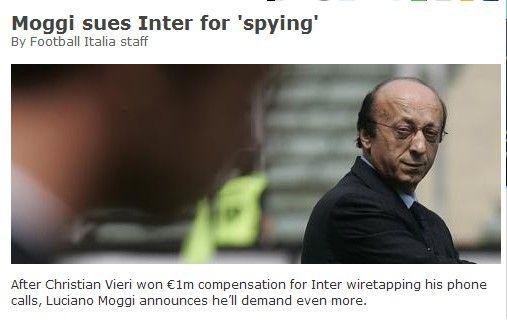 意大利媒体截屏,莫吉起诉国米