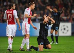 欧冠-纳斯里破门曼城1-3客负阿贾克斯3战1分垫底