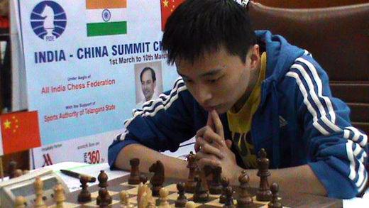 中国棋手王晨在比赛中
