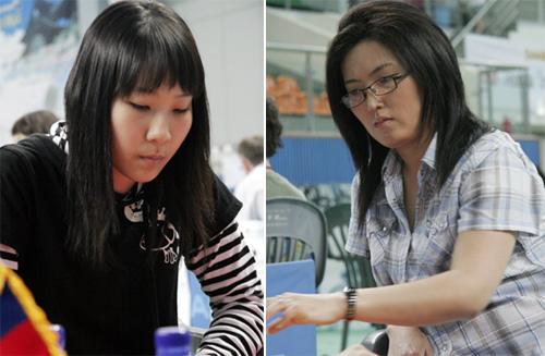 图文-亚洲杯围棋锦标赛落幕冠军金美莉和蒙古棋手