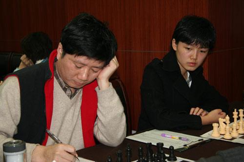 图文-国象联赛第17轮现场聚焦徐俊沈阳并肩作战