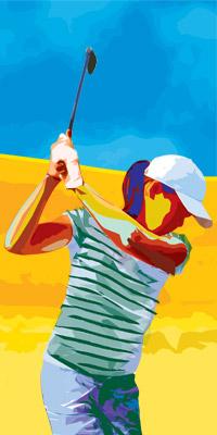 选择轻杆身和L硬度球杆儿童高尔夫球杆选杆技巧