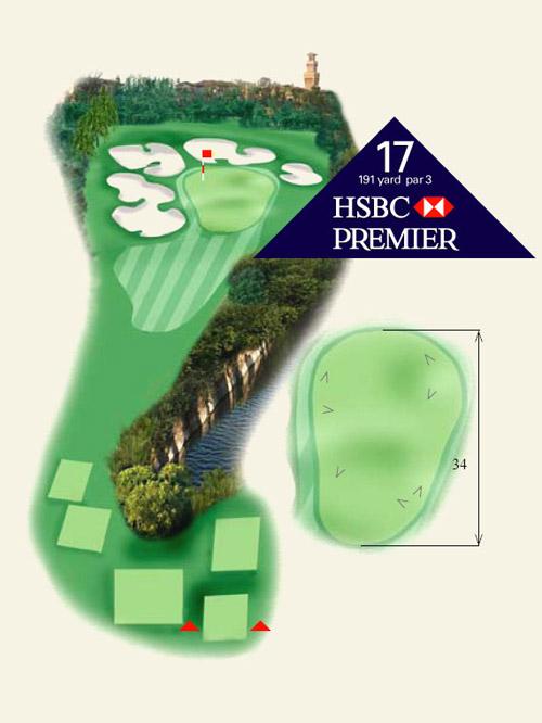 上海佘山国际高尔夫俱乐部第17洞介绍