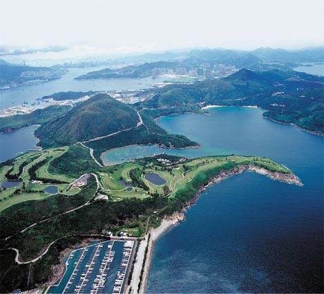 临海俯瞰西贡峰畔全新视野香港清水湾高尔夫球会