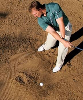 球技-挑战糟糕落点的沙坑球平衡站姿化险为夷