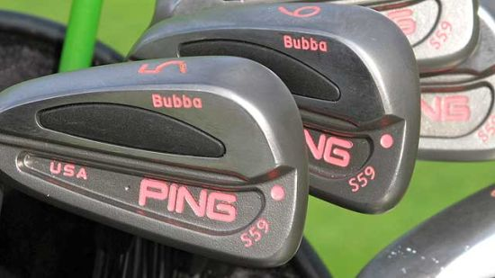 冠军沃森的球包:特制PingG20一号木炫彩粉红色