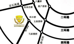 北京华科国际高尔夫俱乐部位置图示