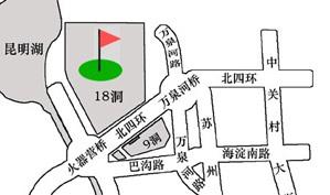 北京万柳高尔夫俱乐部位置图示