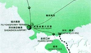 深圳航港高尔夫俱乐部位置图示