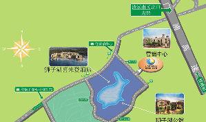 清远狮子湖国际高尔夫球会位置图示