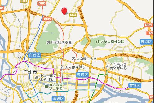 广东南湖高尔夫乡村俱乐部位置图示