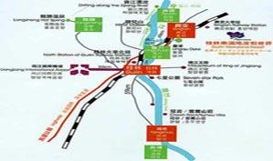 广西桂林乐满地高尔夫俱乐部位置图示