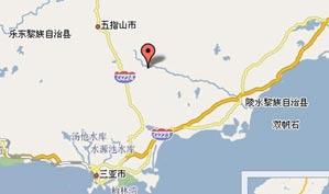 海南七仙岭温泉高尔夫球会位置图示