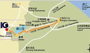 上海光明高尔夫俱乐部位置图示