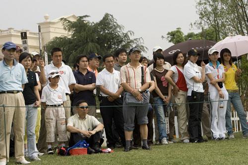 图文-索菲特锦标赛第三轮现场观众