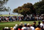 图文-美国公开赛决赛观众队伍跟随着老虎
