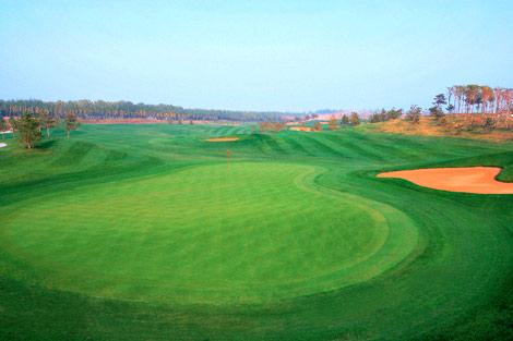 图文-天安假日高尔夫球场美景延伸的终点果岭