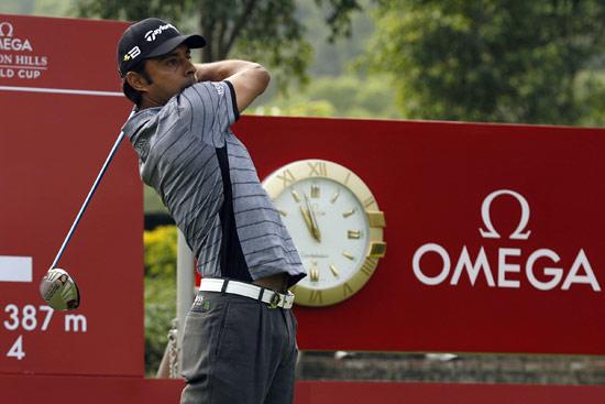 图文-高尔夫世界杯配对赛印度名将兰德哈瓦