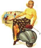 图文-女子高球吹起异域复古风这真的是球车
