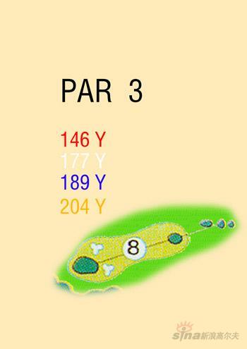 图文-海南南燕湾高尔夫球场攻略图8号洞球道