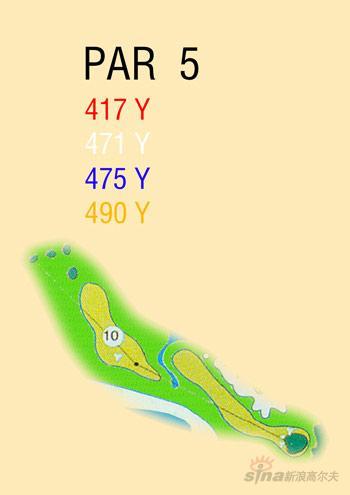 图文-海南南燕湾高尔夫球场攻略图10号洞球道