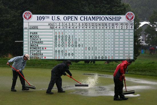 大雨来袭-美国公开赛