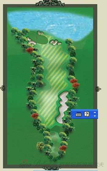 图文-京华高尔夫俱乐部第十二号洞球道介绍