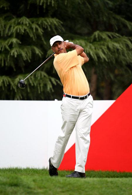 图文-汇丰冠军赛第三轮赛况印度名将米哈辛