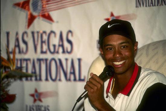 图文-伍兹生涯伟大时刻1996年伍兹赢拉斯维加斯赛