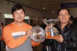 图文-中国球队海外赛颁奖奥迪鹰之队的荣誉