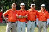 图文-第九届美加高尔夫对抗赛准备开球