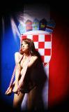 克罗地亚足球宝贝