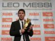 梅西领上赛季欧洲金靴奖