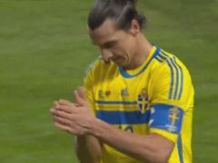 视频-瑞典角球造势 伊布禁区乱战抽射离谱高出