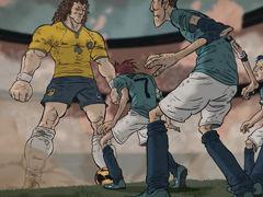 视频-巴西队炫目混剪广告 鲁蓬蓬变巨人大罗当观众