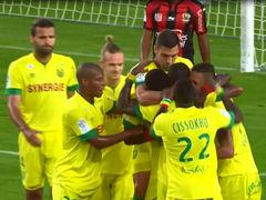 视频集锦-客队后卫乌龙大礼 南特2-1胜尼斯