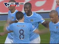 进球视频-内格雷多头球摆渡 图雷膝盖撞射破曼联