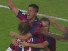 进球视频-克里斯塔尔多冲顶破门 米兰两球落后