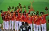 水球中国女队13-5哈萨克夺冠
