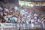 图文-[中超]天津泰达VS上海申花 津门球迷声势浩大