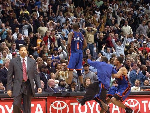 NBA老照片-当弗朗西斯在他乡绝杀时刻留传世永恒
