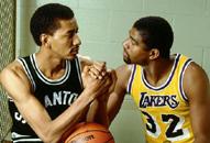 NBA老照片-80年代谁主沉浮魔术师大战冰人成焦点