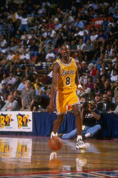 NBA老照片-千场之路从鸭蛋开始科比的NBA生涯首秀