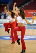 北京篮球宝贝进行训练