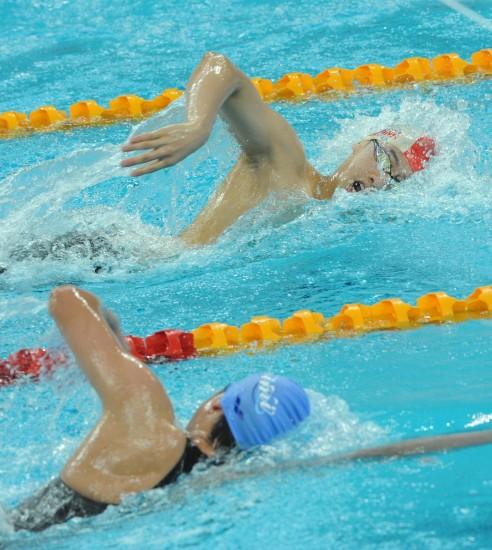 图文-2009全国游泳锦标赛31日赛况季志祥收获亚军