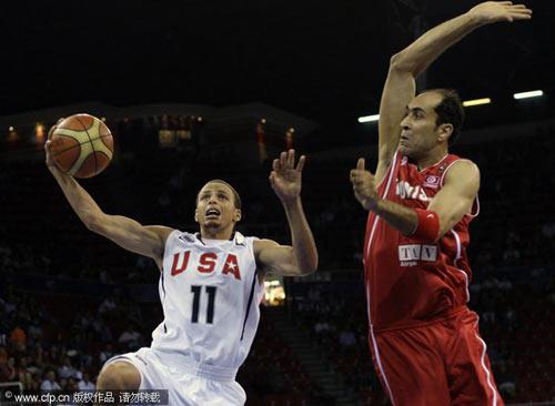 图文-[世锦赛]美国92-57突尼斯库里单手上篮